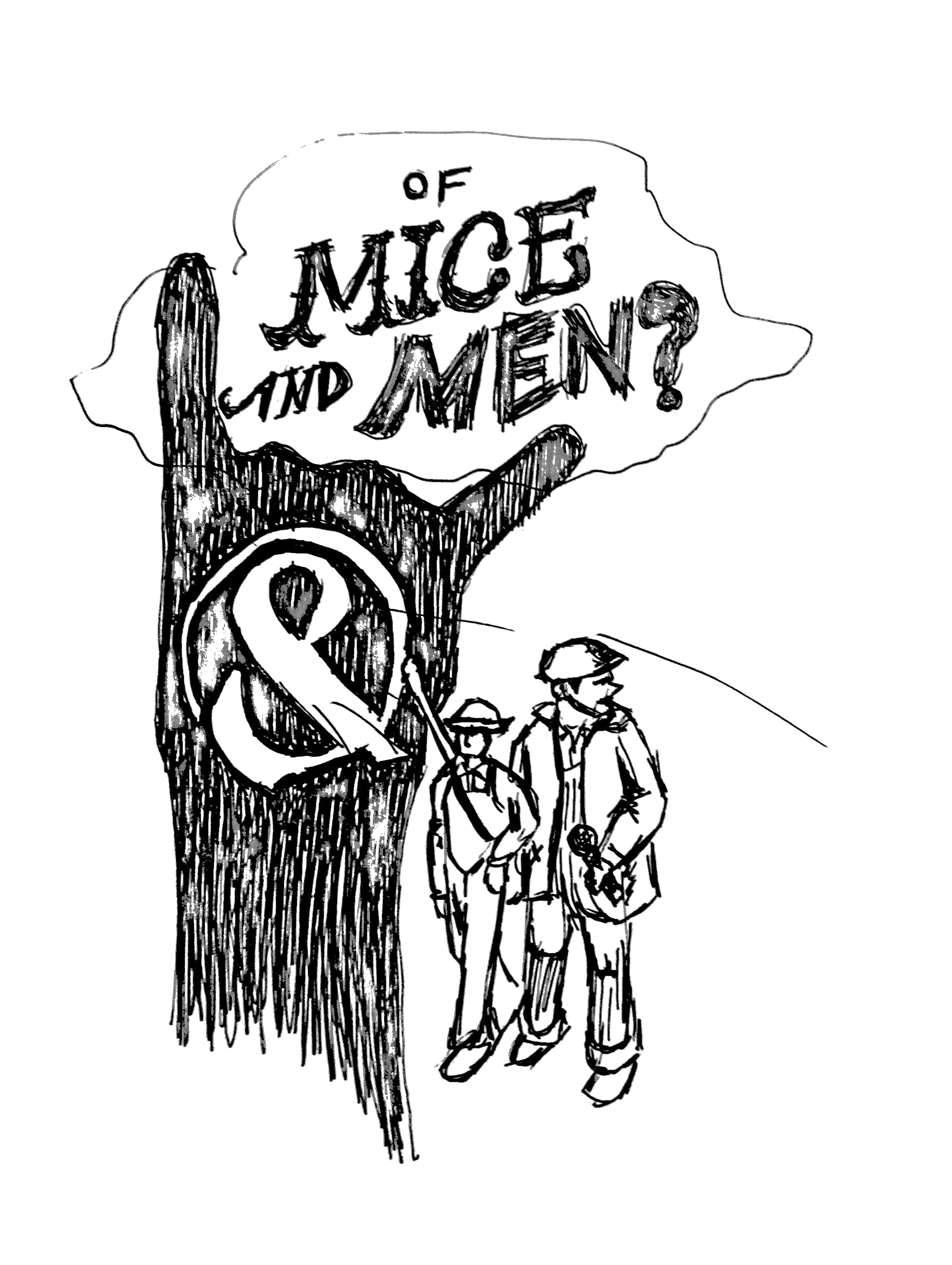 Drawing lyrics. Of mice and men
