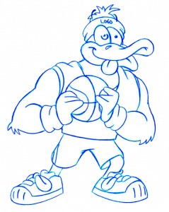 Mascot drawing. How we draw a