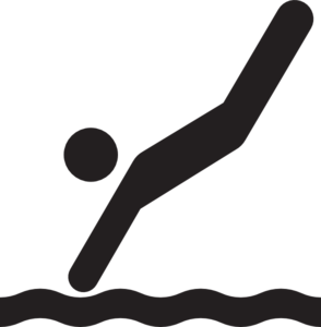 Diver clipart black and white. Jumpy sports graphics swimming