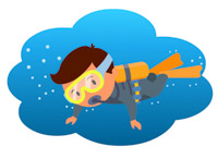 Diving clipart. Sports free scuba to