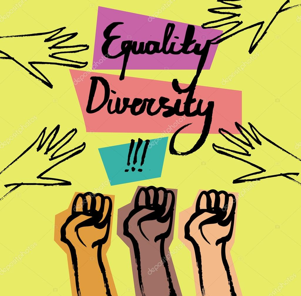 Diversity clipart tolerance. Motivational poster with text