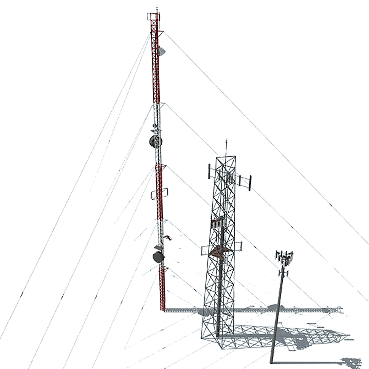 Pole vector electric tower. Diverse construction inc is