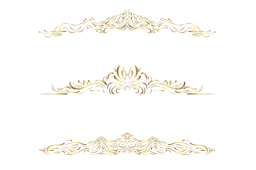Divider clipart brown. Gold text borders and