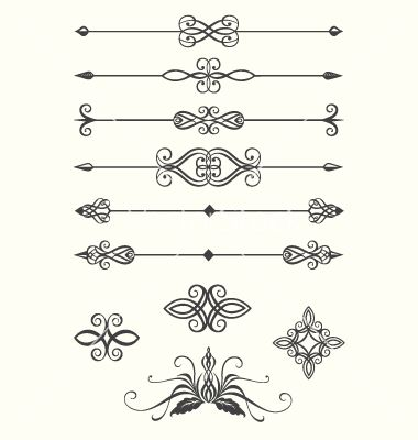Straight clipart divider line. Fancy page dividers decorative
