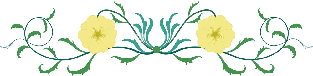 Divider clipart plant. Floral royalty free stock