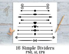 Divider clipart straight line. Simple elements eps png