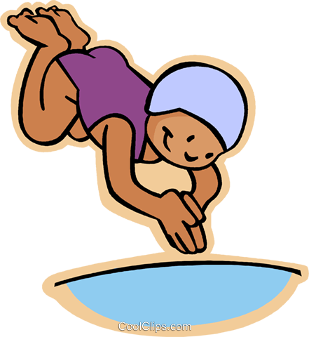 Diving clipart. Little girl into pool jpg freeuse download