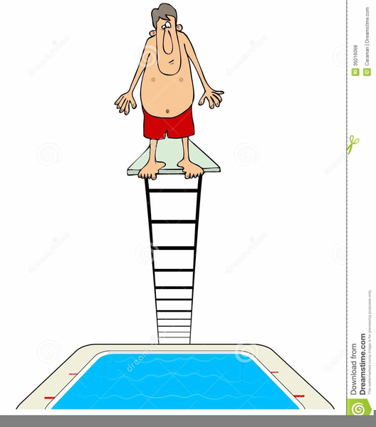 Swimming pool free images. Diving clipart diving board jpg royalty free library