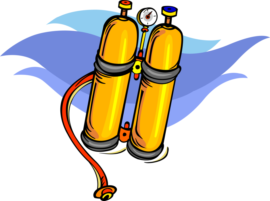 Oxygen vector image illustration. Diving clipart scuba tank svg free library
