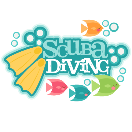 Scuba title svg scrapbook. Diving clipart school vector royalty free download
