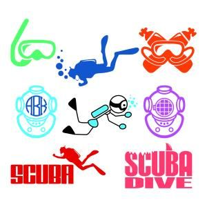 Scuba dive diver pack. Diving clipart svg vector freeuse library