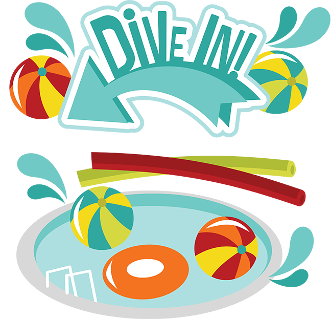 Diving clipart svg. Dive in scrapbook collection