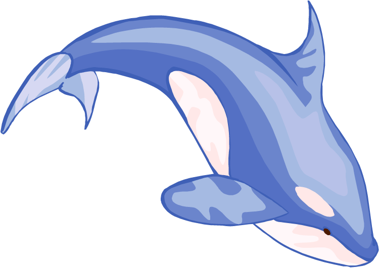 Whale clipart. Free blue art download