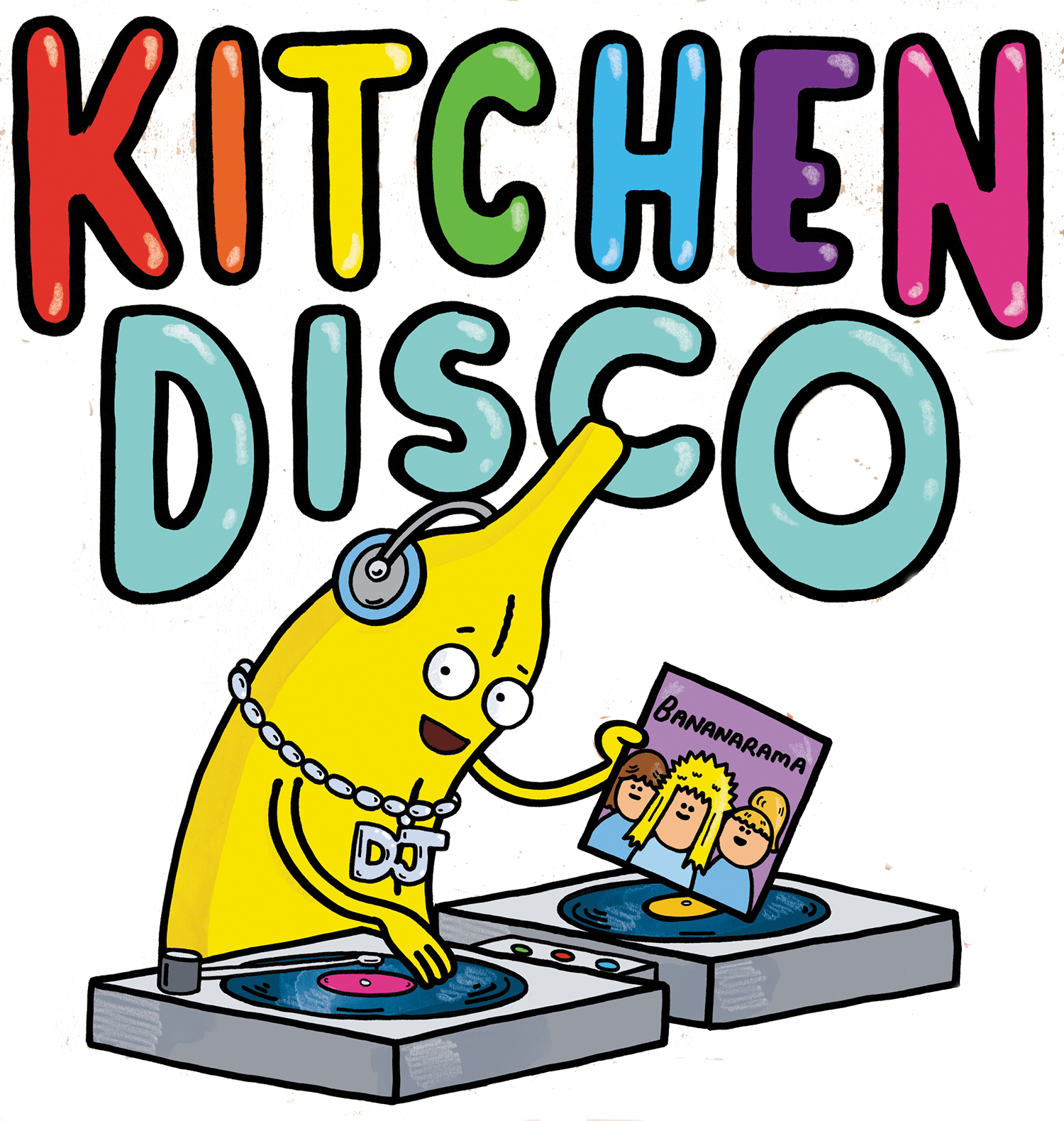 Drawing songs disco. Kitchen read the book