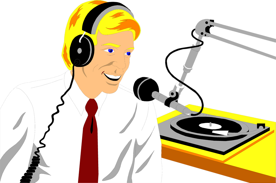 Microphone clipart talk show. Free radio person cliparts