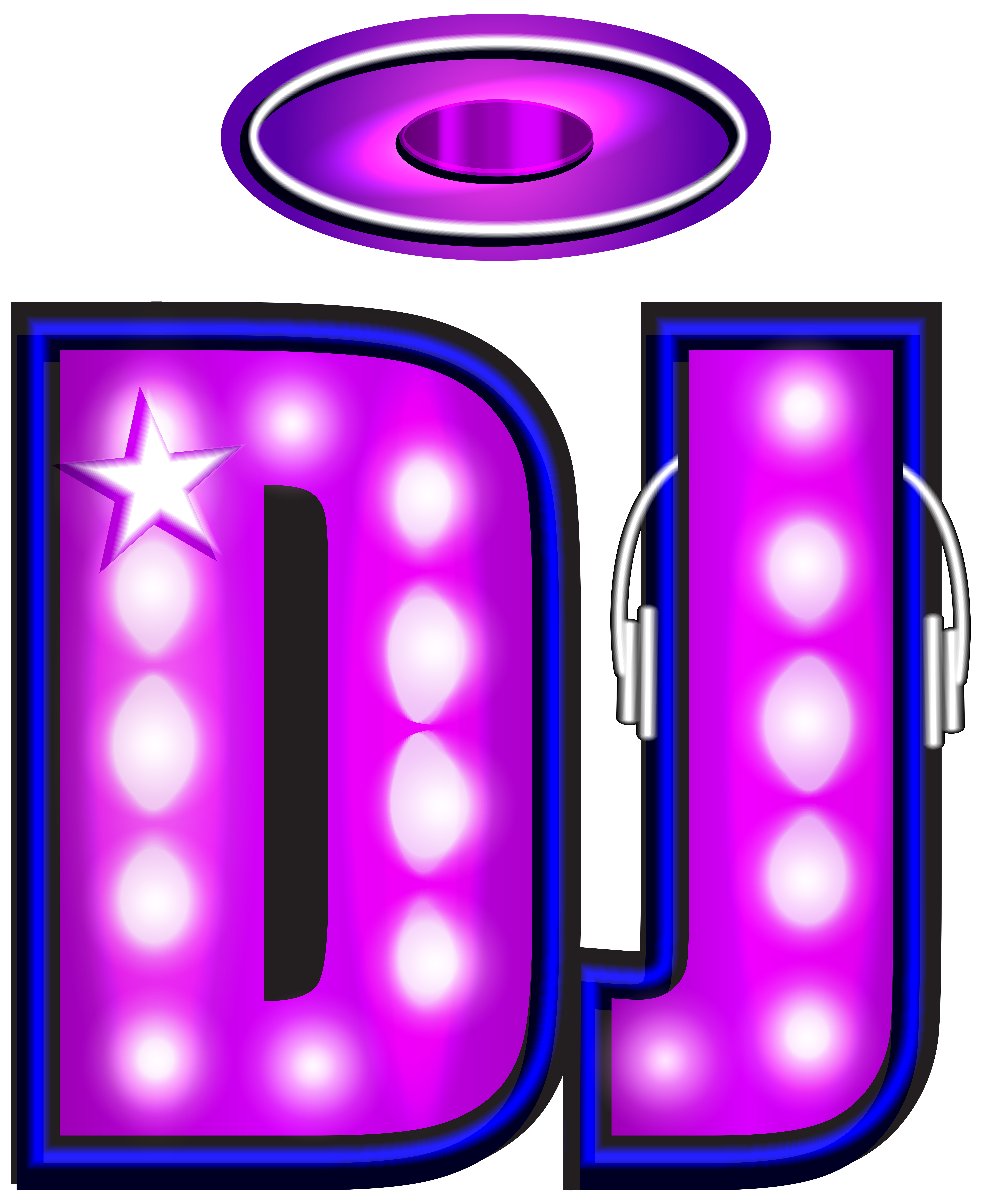Neon clip art image. Dj png clipart library download