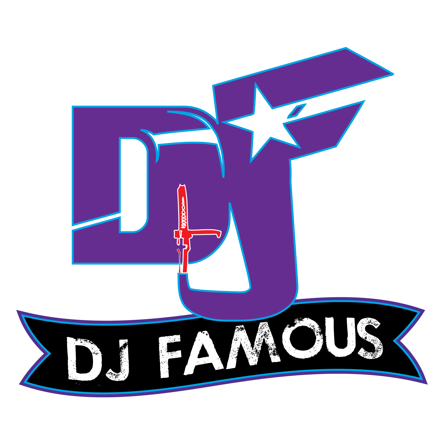 Dj music logo png. New design for famous
