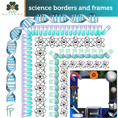 Frames clipart science. Free and borders clip
