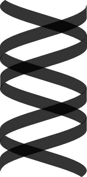 vertical vector dna helix