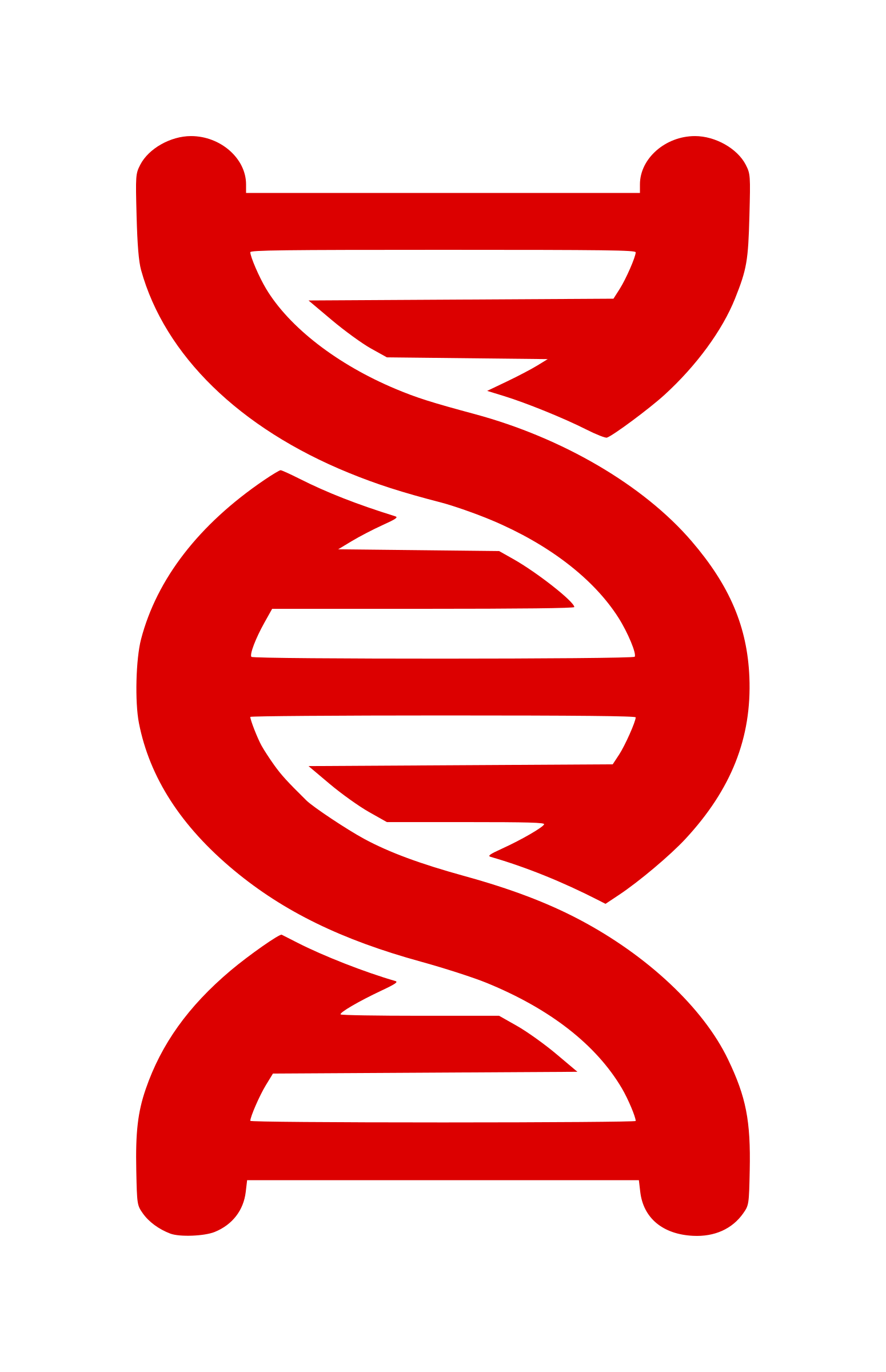 Vertical vector dna strand. Clipart icon big image