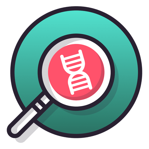 Research vector png. Dna icon transparent svg