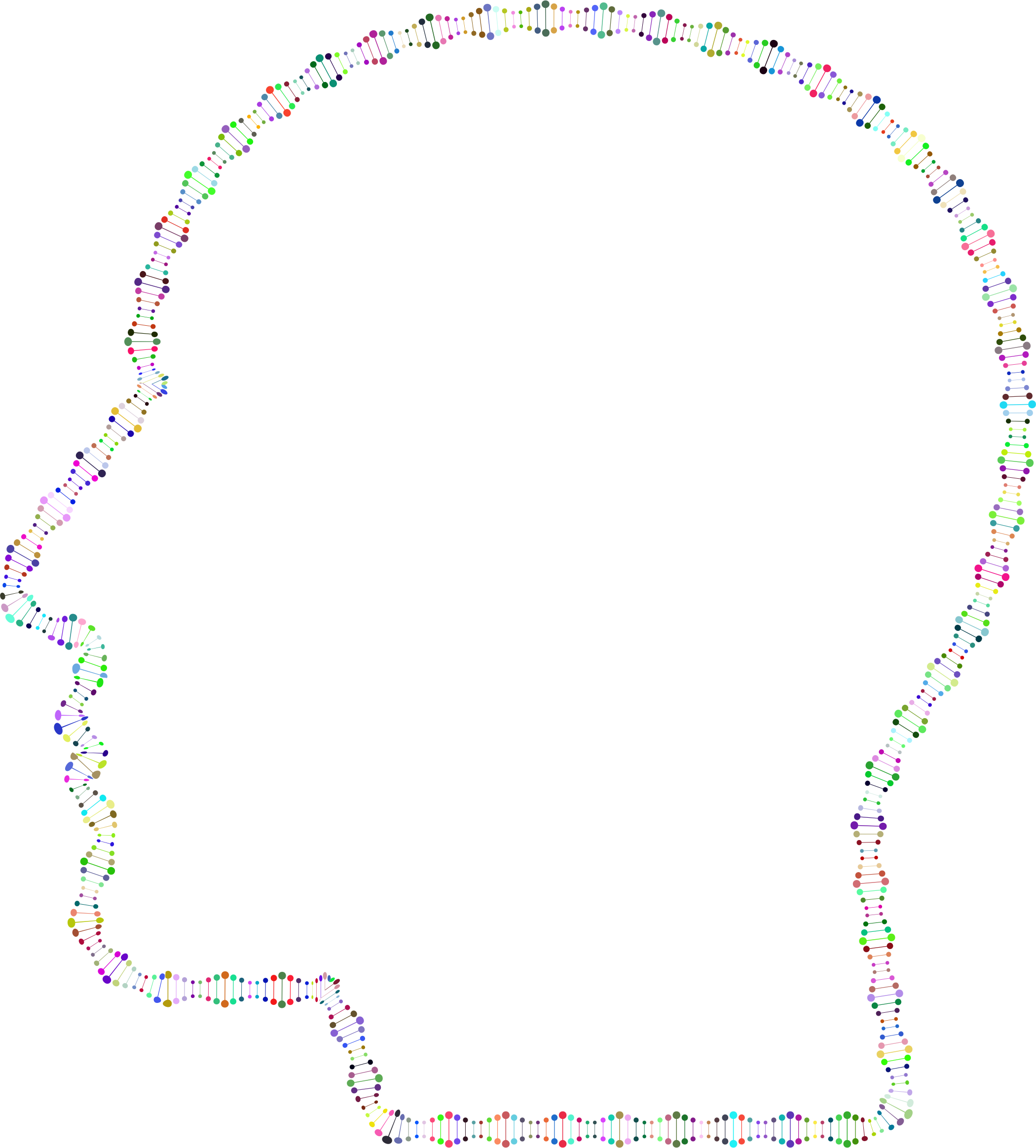 Dna svg infinity. Prismatic abstract helix man