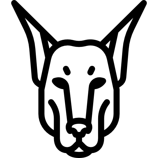 Doberman vector logo. Icons free download demo