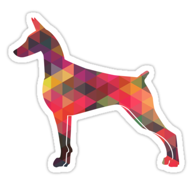 doberman vector geometric