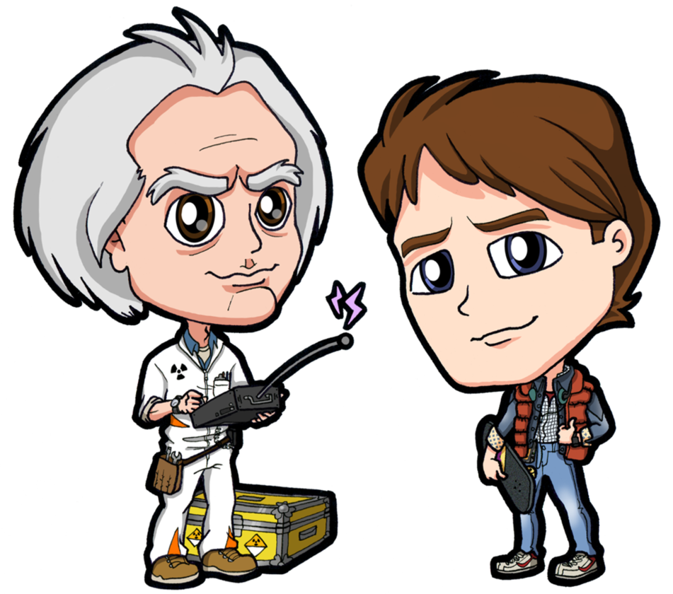 Doc back to the future png. Brown marty mcfly