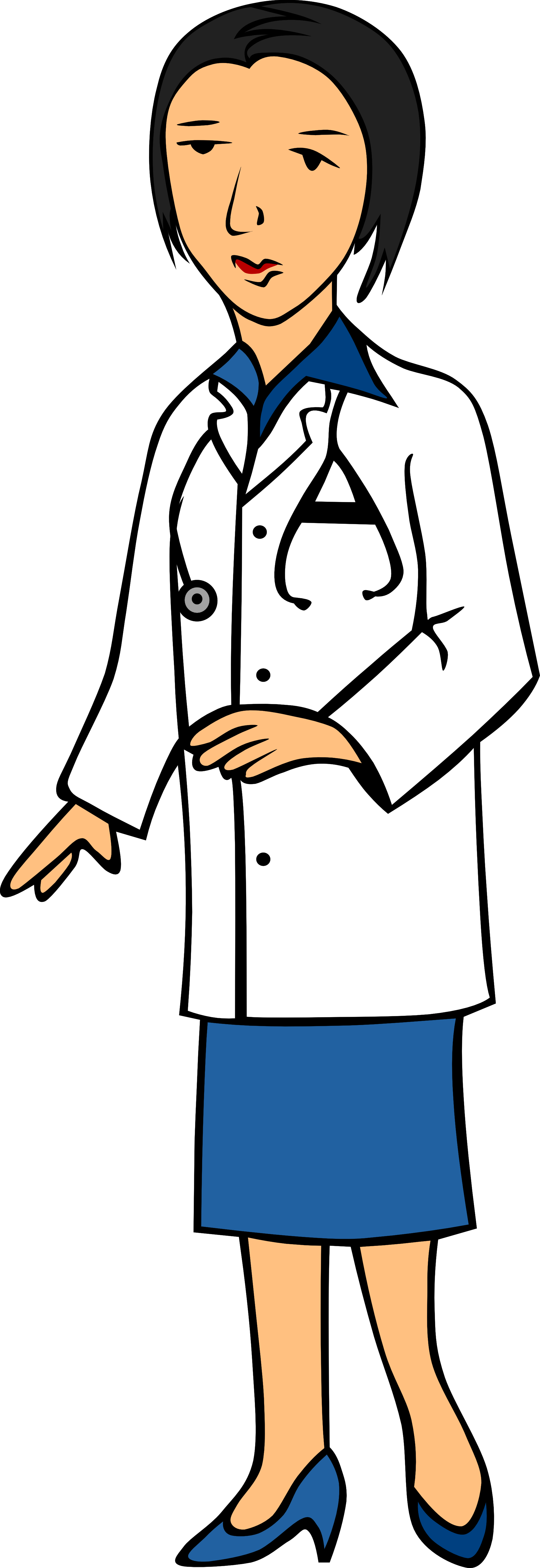 Doctor clipart woman doctor. Free transparent cliparts download