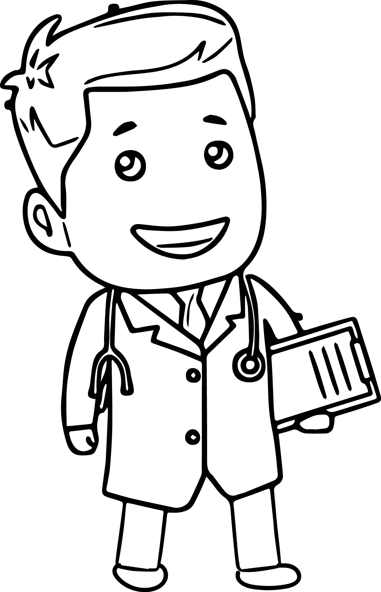 Doctor clipart cartoon. Who drawings black and