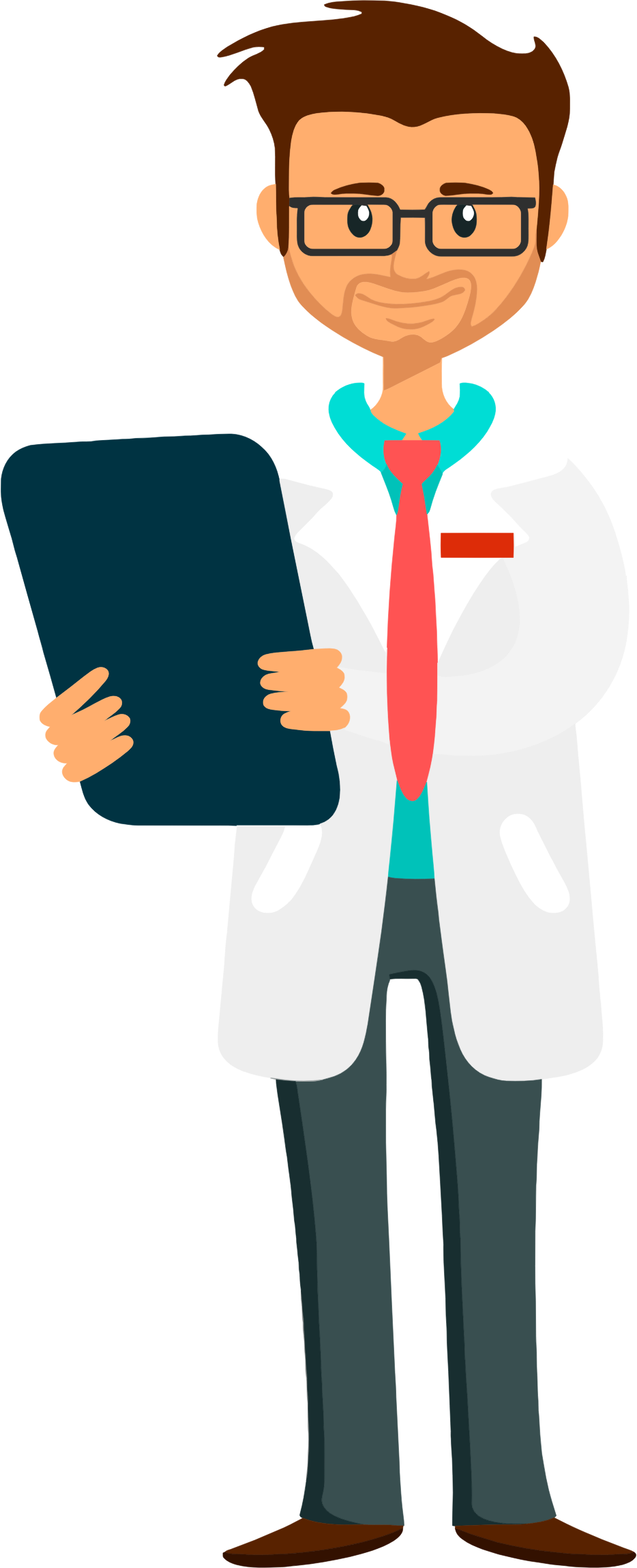 Doctor clipart png. Holding clipboard big image