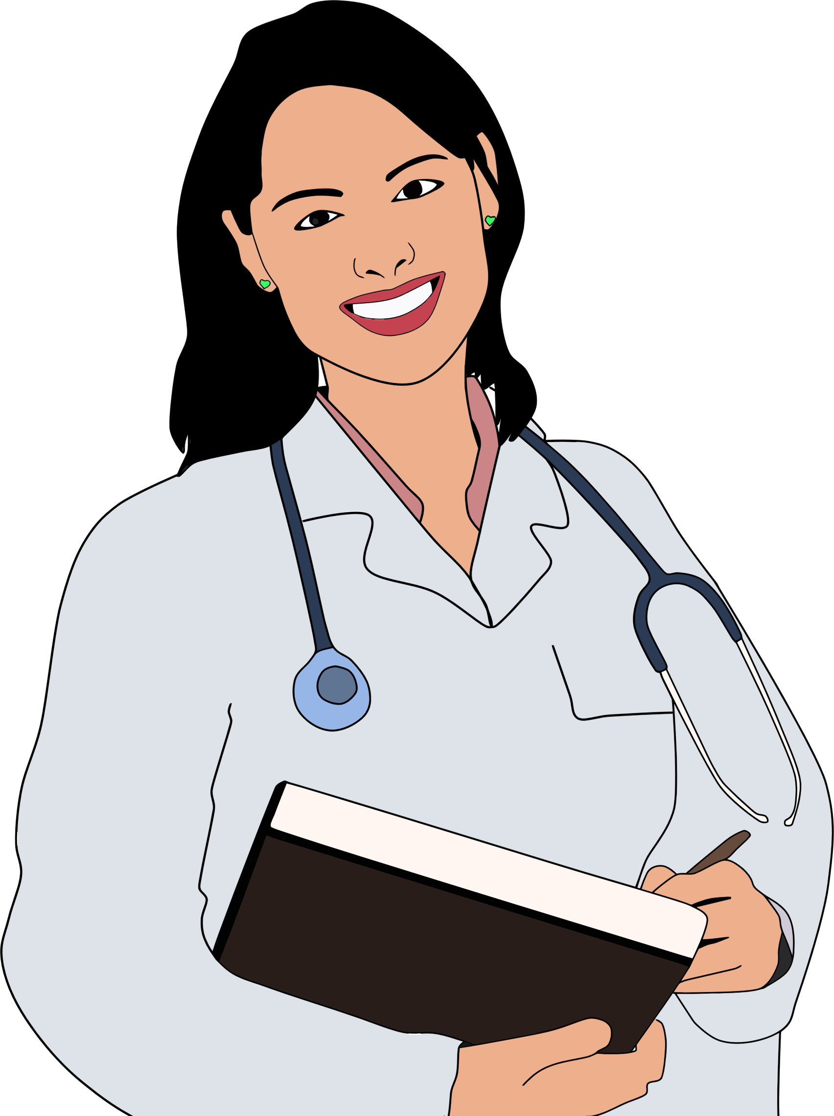 Doctor clipart woman doctor. Young female big image
