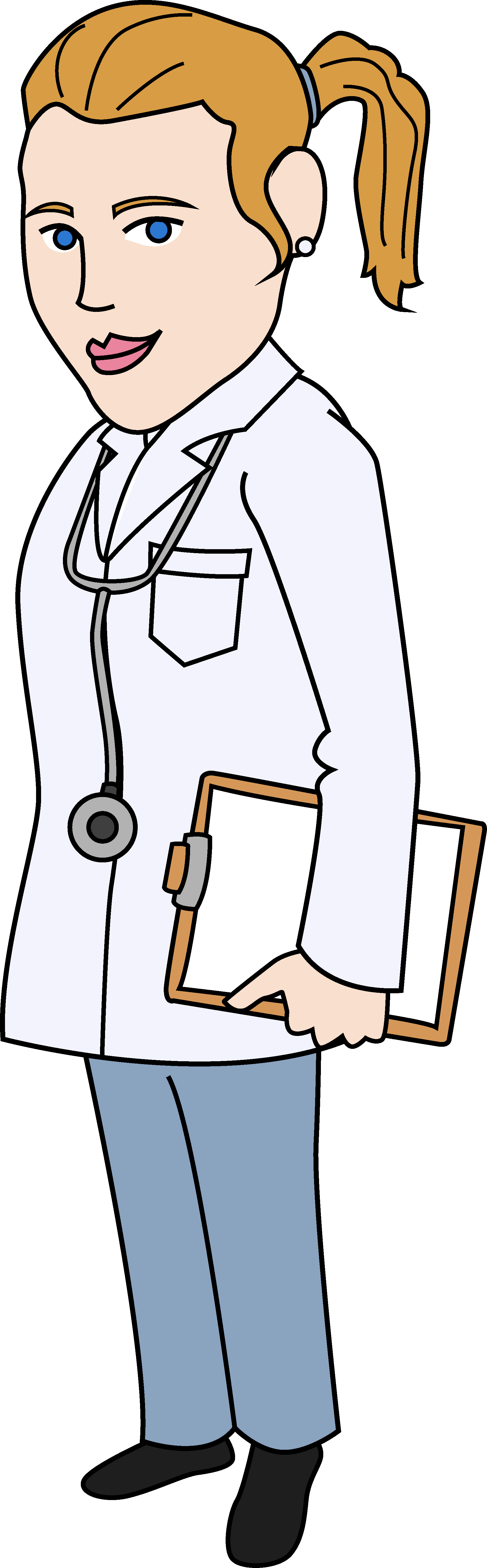 Doctor clipart woman doctor. Free download clip art