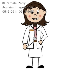Doctor clipart woman doctor. Clip art illustration of