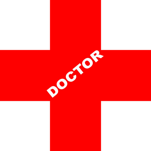 Doctor logo png. Red clip art at