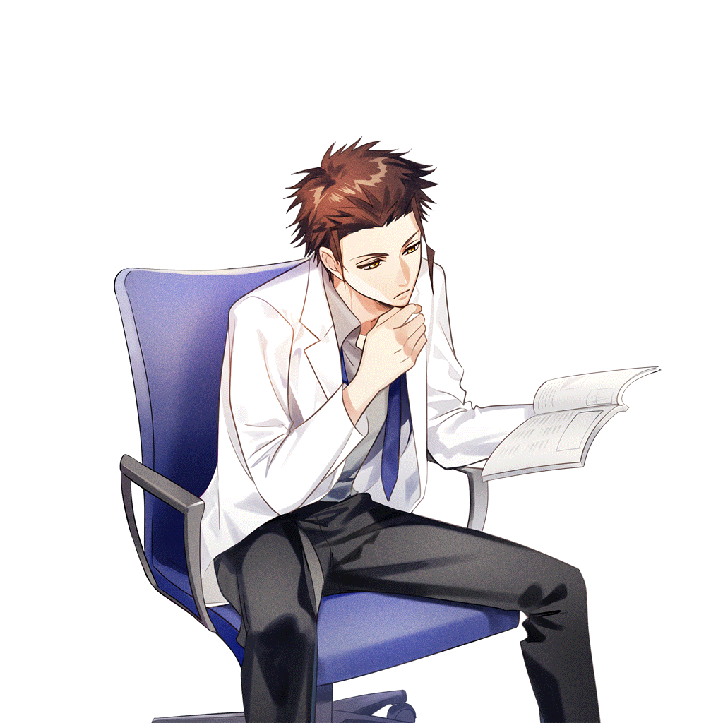 Doctor sitting png. Image scout tsubaki rindo