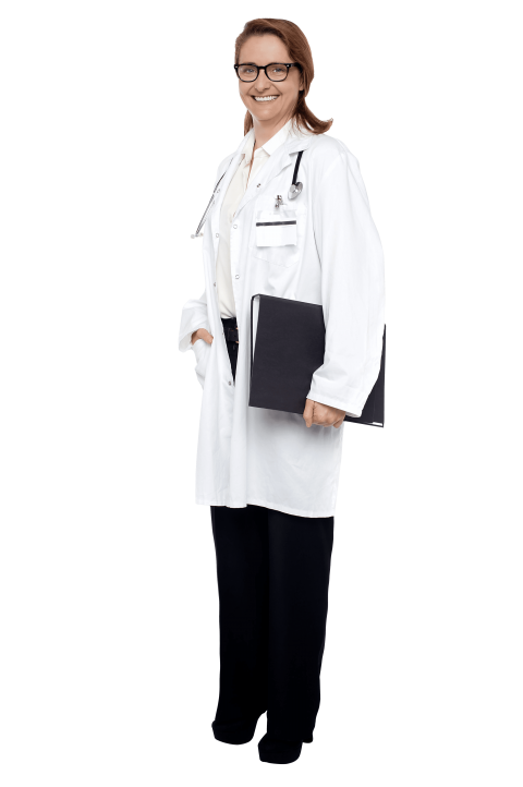 Doctor standing png. Female free images toppng