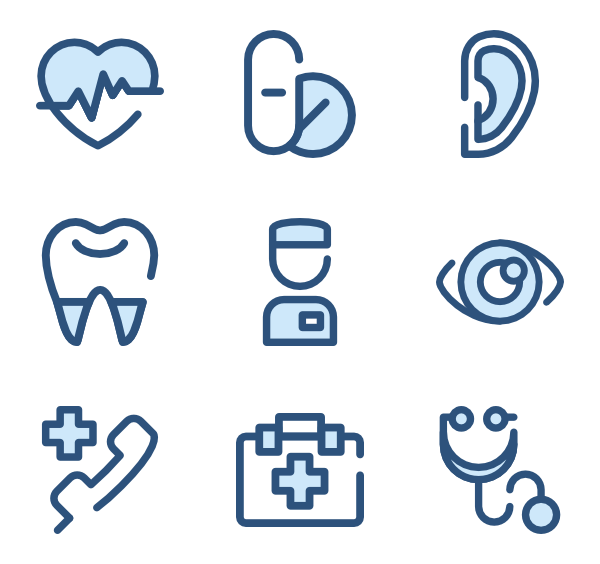Nurse icons free health. Vector office medical jpg black and white