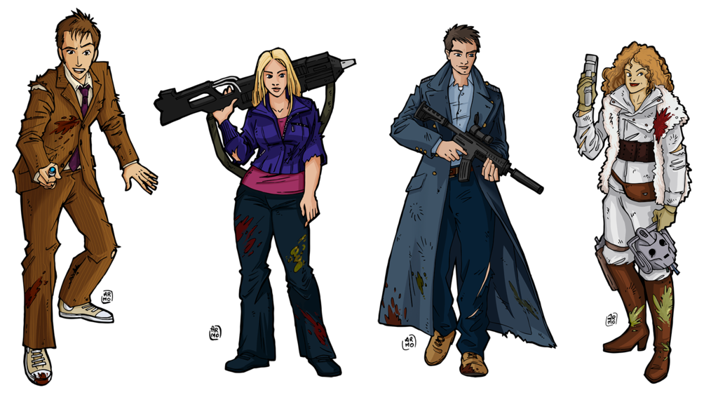 Doctor who fan art png. Companions zombicide characters