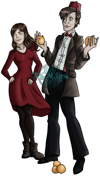 Doctor who fan art png. The th and clara