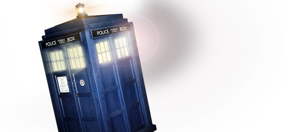 Transparent tardis flying. Image doctor who png