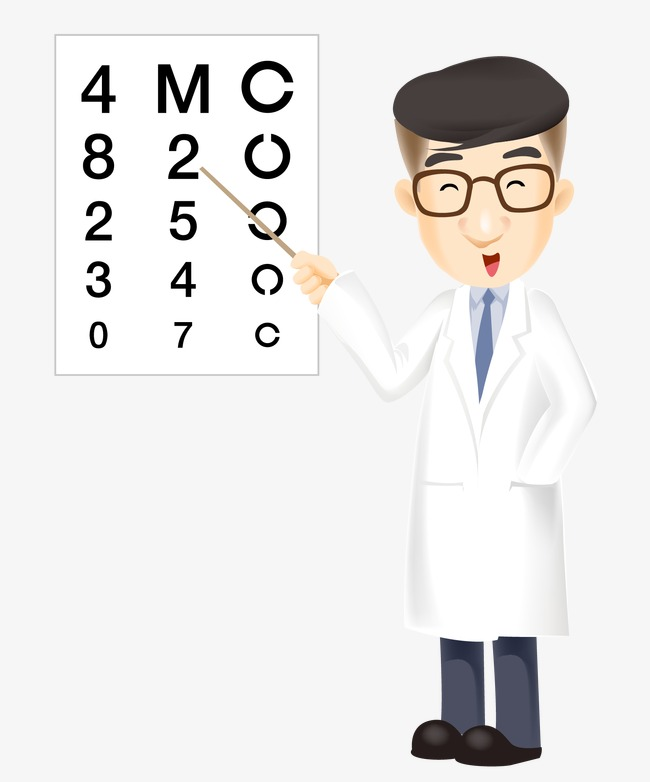 Doctors clipart eye doctor. Cartoon chart png and