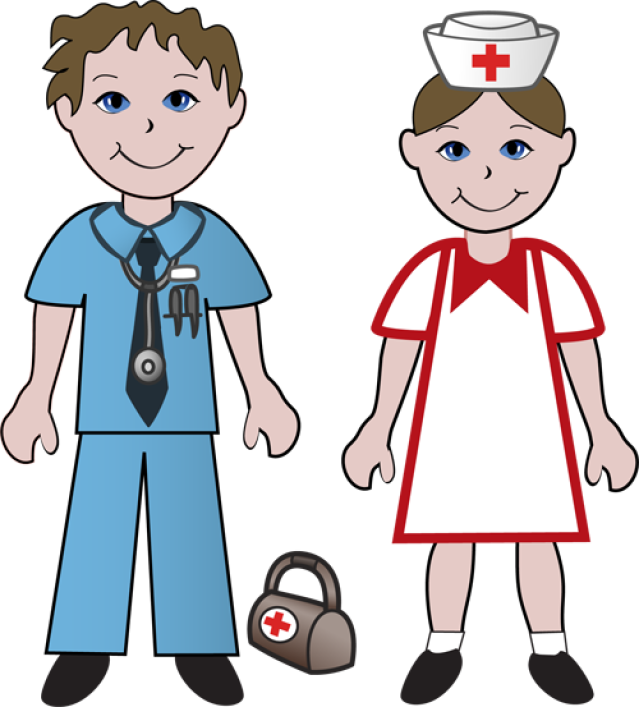 Nurse clipart patient. Free picture of a