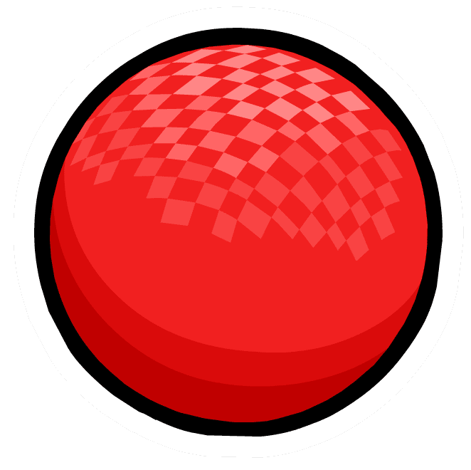 dodgeball vector red