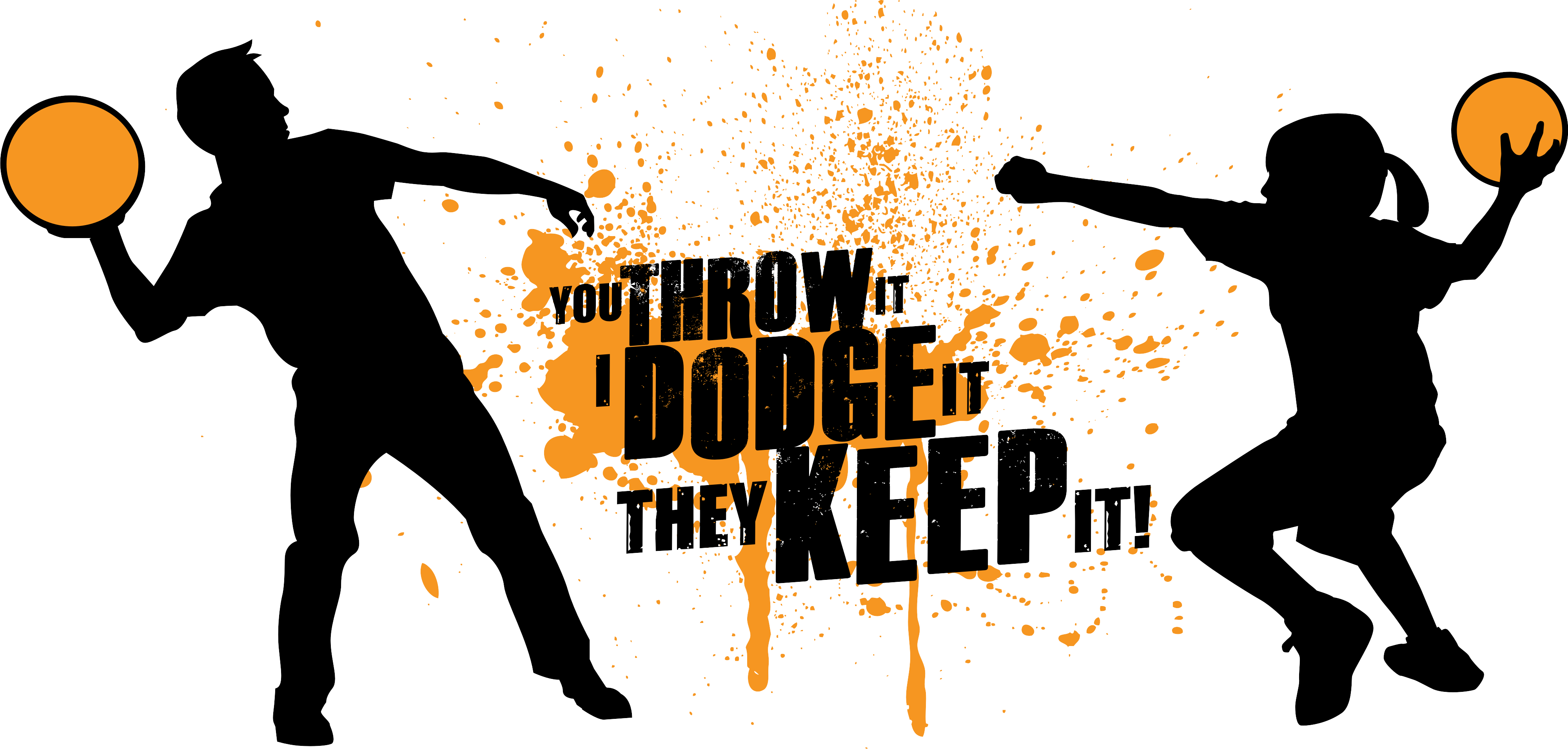 Dodgeball clip throwing. Tournament publicity tools ivory