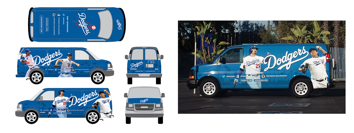 Los angeles on behance. Dodgers drawing car png royalty free stock