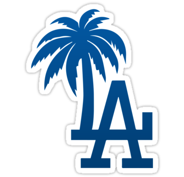 Dodgers drawing gangster. La palm trees by