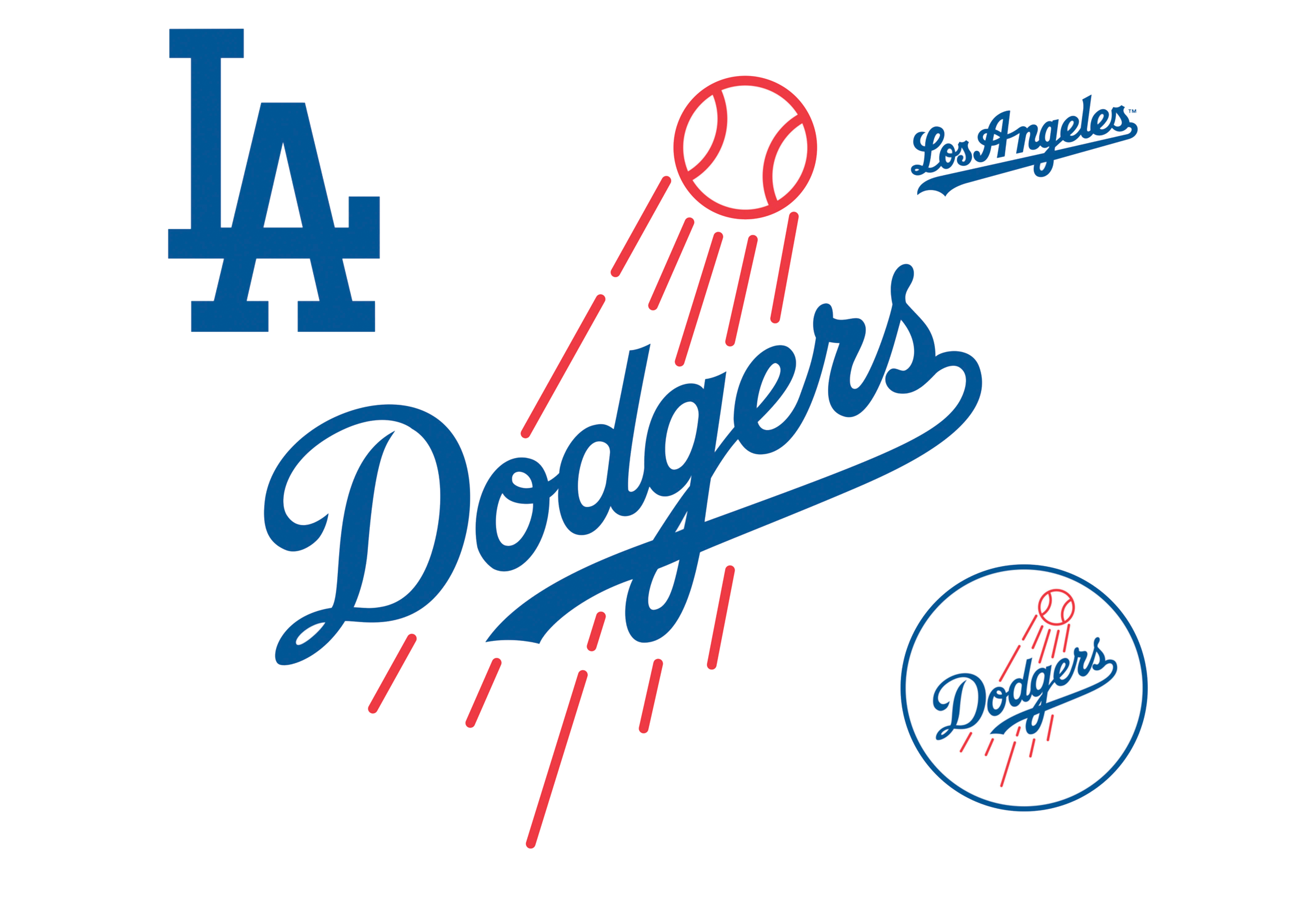 All logos png image. Dodgers drawing vector freeuse