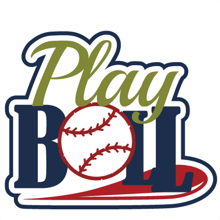 Play ball svg scrapbook. Dodgers vector clipart black and white
